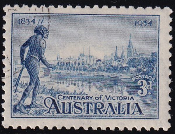 3d Centenary of Victoria - p10½