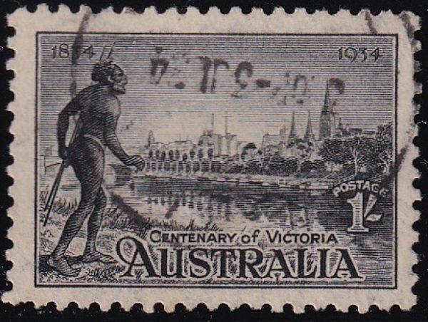 1/- Centenary of Victoria - p10½