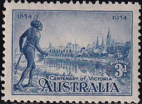 3d Centenary of Victoria - p11½