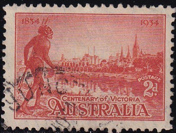 2d Centenary of Victoria - p11½