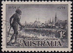 1/- Centenary of Victoria - p11½