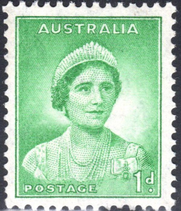 1d Queen Elizabeth p 13½ x 14