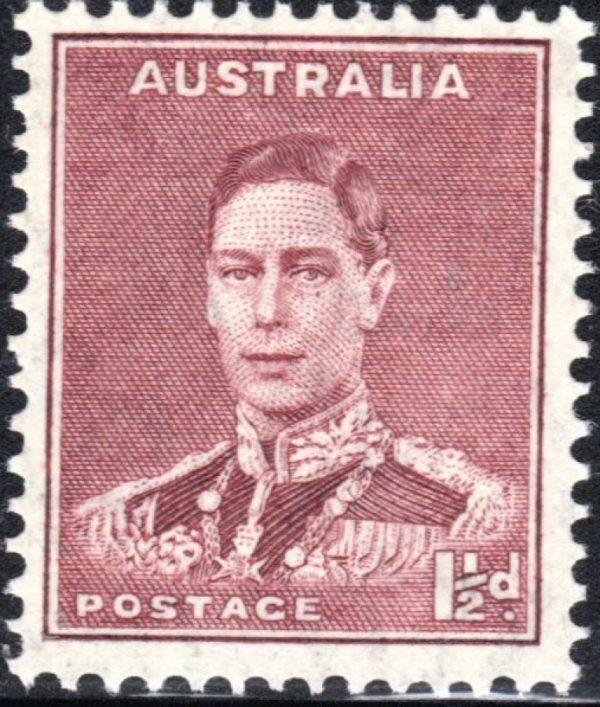 1½d King George VI p 13½ x 14