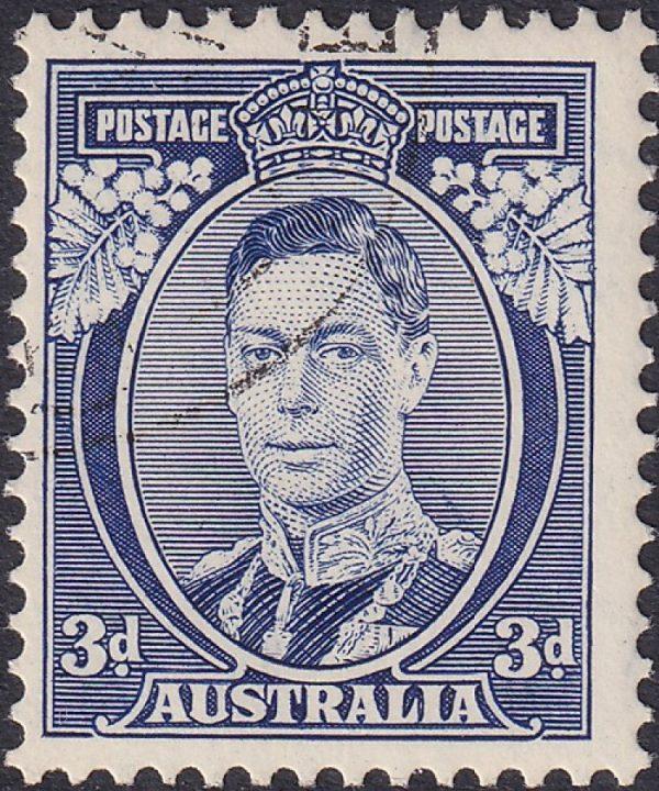 3d King George VI p 13½ x 14 Die I