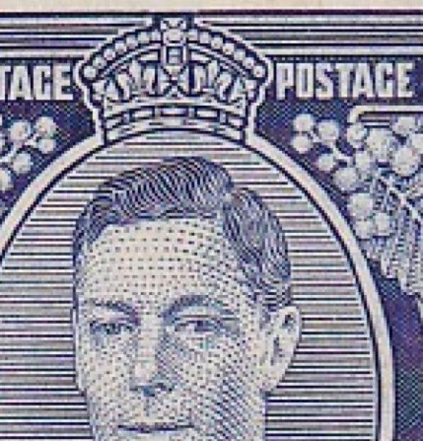 3d King George VI p 13½ x 14 Die II