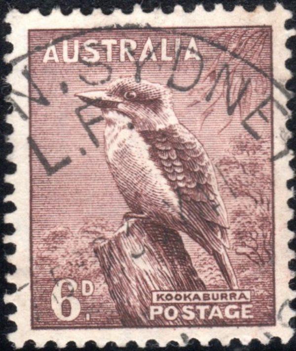 6d Kookaburra p 13½ x 14