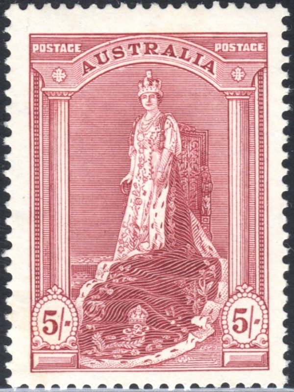 5/- Queen Victoria - Thick Paper