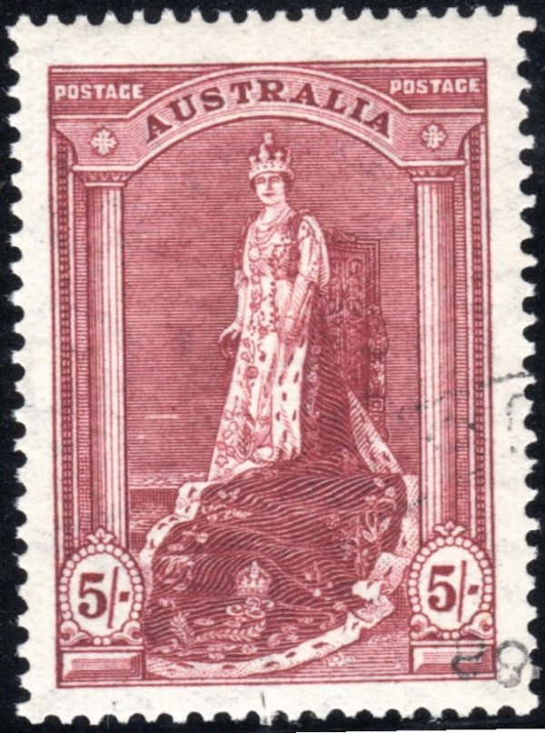 5/- Queen Victoria - Thin Paper
