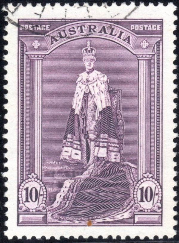 10/- King George VI - Thick Paper