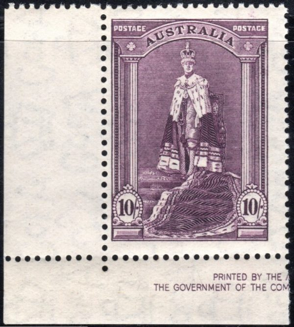 10/- King George VI - Thin Paper