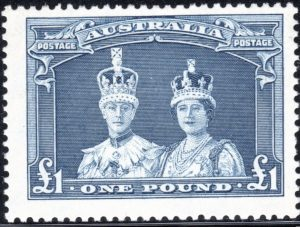 £1 King George VI & Queen Elizabeth - Thick Paper