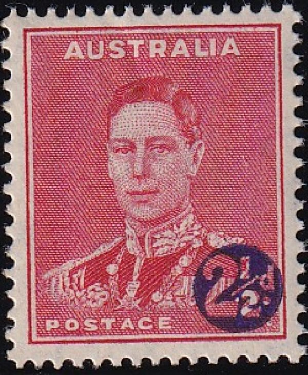 2½d King George VI Surcharge