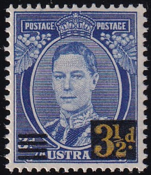 3½d King George VI Surcharge