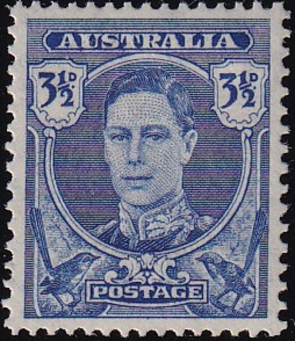 3½d King George VI - Deep blue