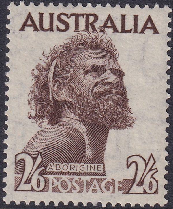2/6d Aborigine - Watermark C of A