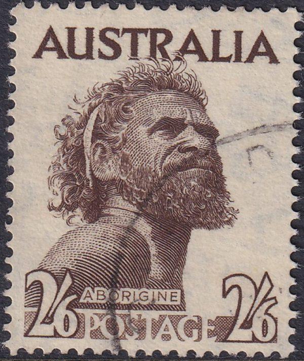 2/6d Aborigine - Watermark C of A