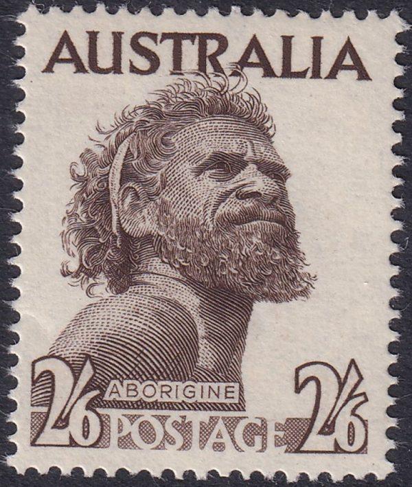 2/6d Aborigine - No Watermark (Sepia)