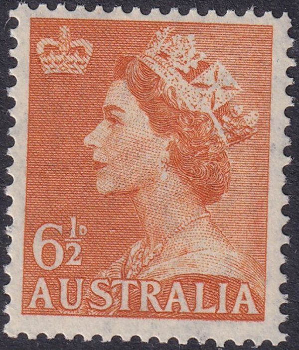6½ Queen Elizabeth II - C of A Watermark