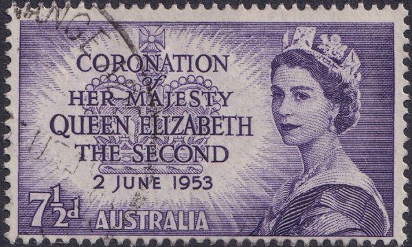 7½d Coronation of QE II