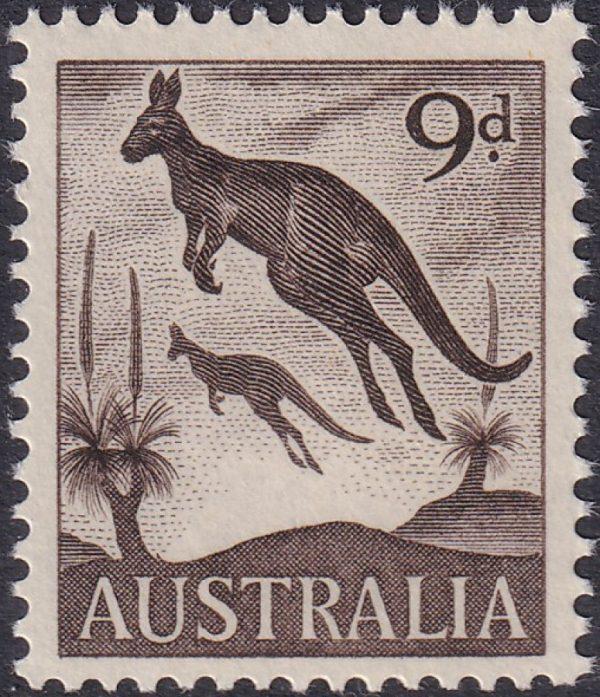 9d Eastern Grey Kangaroos