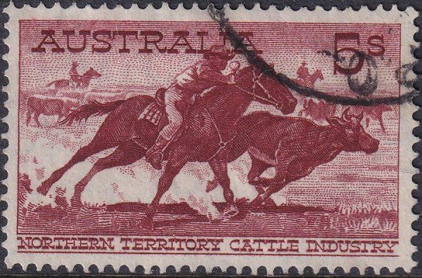 5/- Aboriginal Stockman - White Paper