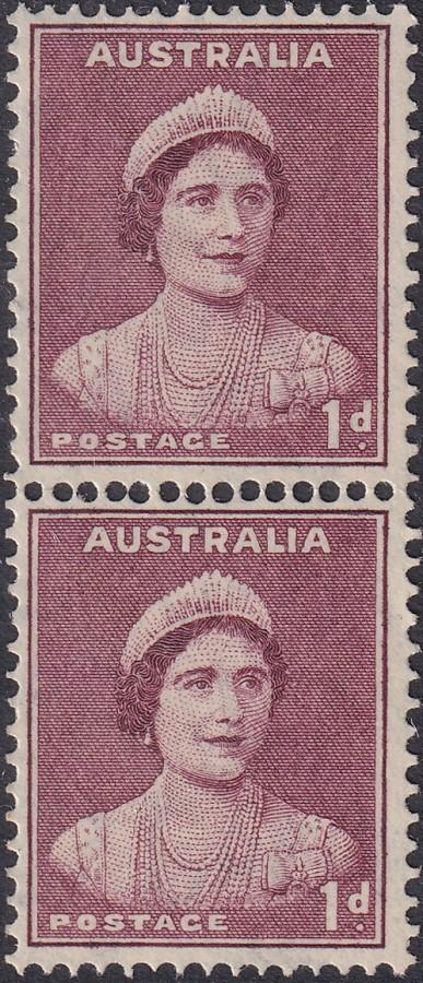1d Queen Elizabeth II - Coil Pair