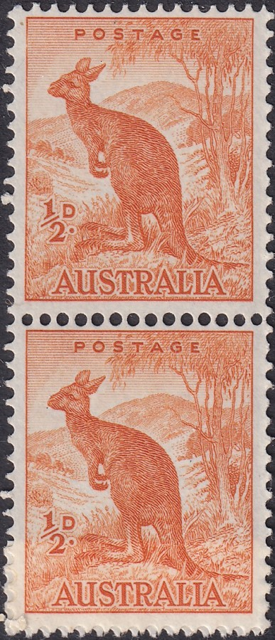 ½d Kangaroo - No Watermark - Coil Pair