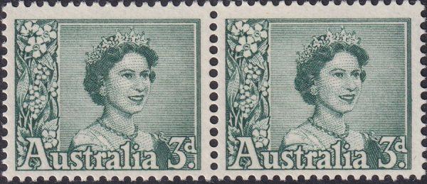 3d Queen Elizabeth II - Coil Pair