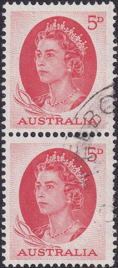 5d Queen Elizabeth II - Coil Pair