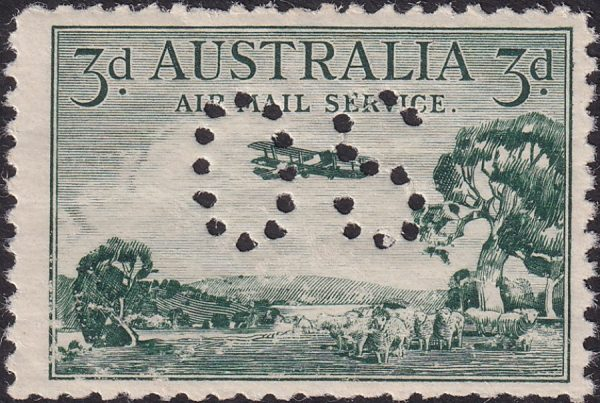 3d Airmail Type B - OS
