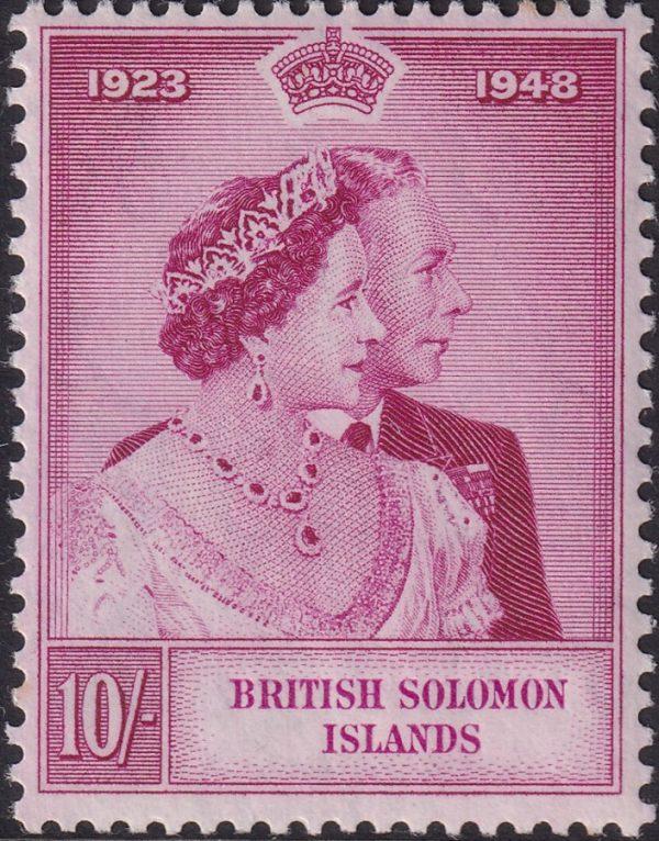British Solomon Is. 10/- Silver Wedding