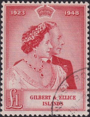 Gilbert & Ellice Is. £1 Silver Wedding