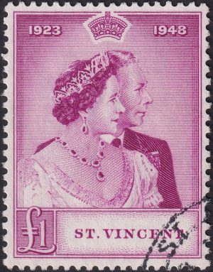 St Vincent £1 Silver Wedding