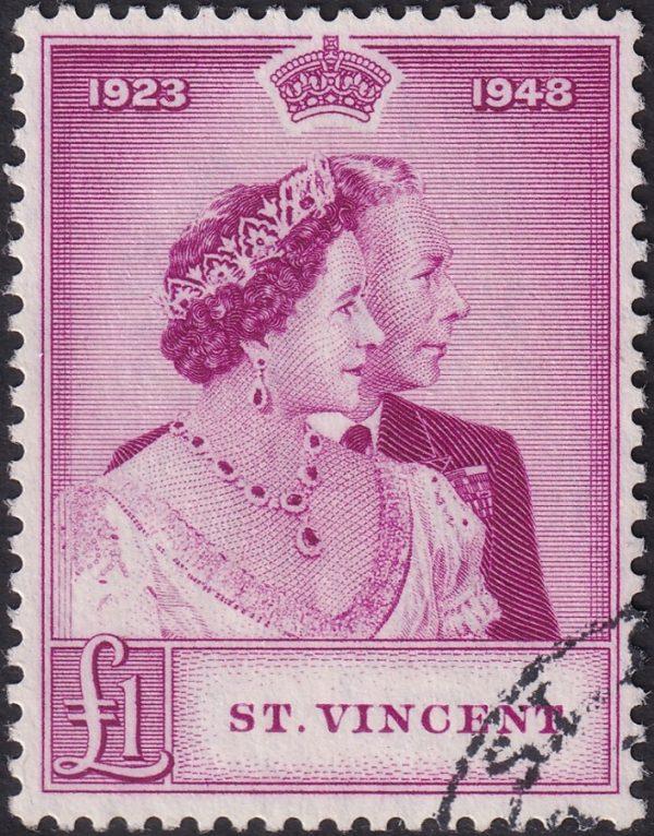 St Vincent £1 Silver Wedding