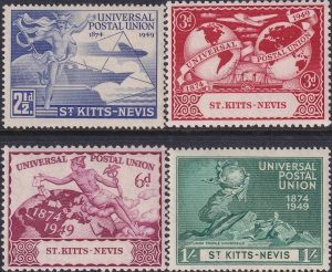 St Kitts & Nevis 75th Anniversary of U.P.U.
