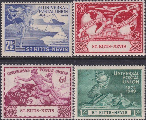 St Kitts & Nevis 75th Anniversary of U.P.U.