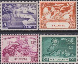 St Lucia 75th Anniversary of U.P.U.