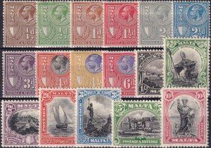 """King George V pictorials inscribed """"Postage & Revenue"""""""