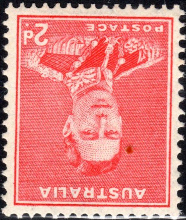 2d King George VI p 15 x 14 - Watermark Inverted