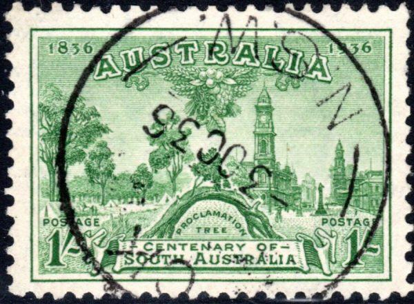 1/- Centenary of South Australia
