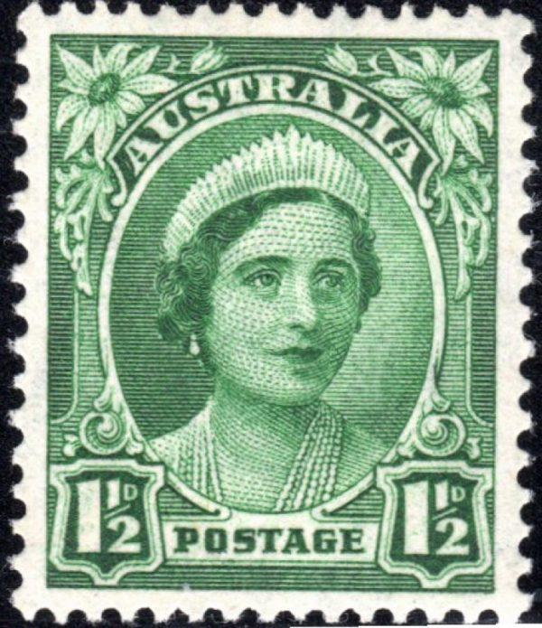 1½d Queen Elizabeth