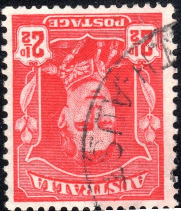 2½d King George VI - Watermark Inverted
