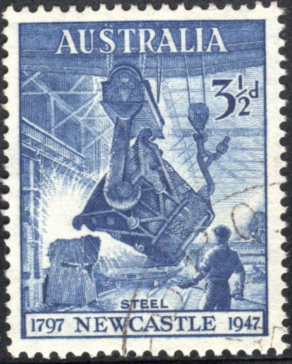 3½d 150th Anniversary of City of Newcastle, New South Wales