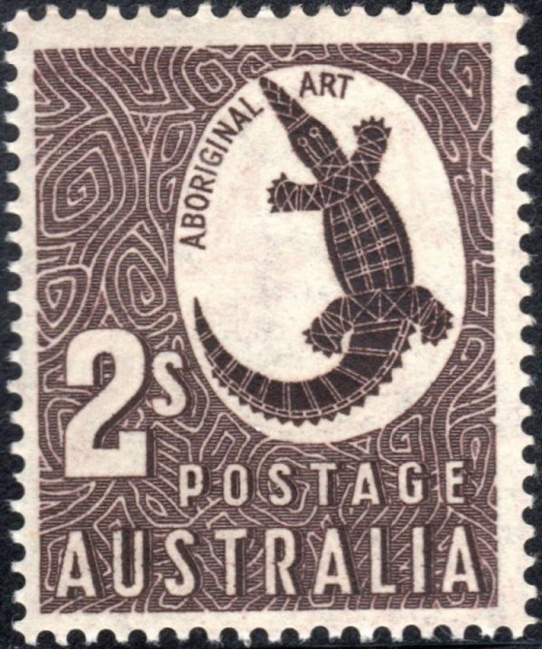2/- Aboriginal Art - Watermark C of A