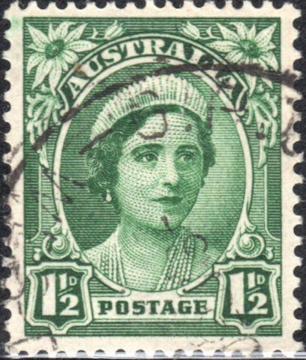 1½d Queen Elizabeth - No Watermark