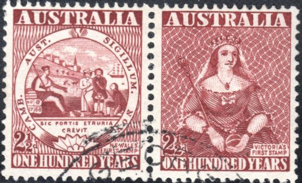 Centenary of First Adhesive Postage Stamps in Australia