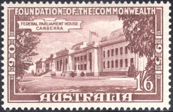 1/6d 50th Anniversary of Commonwealth of Australia