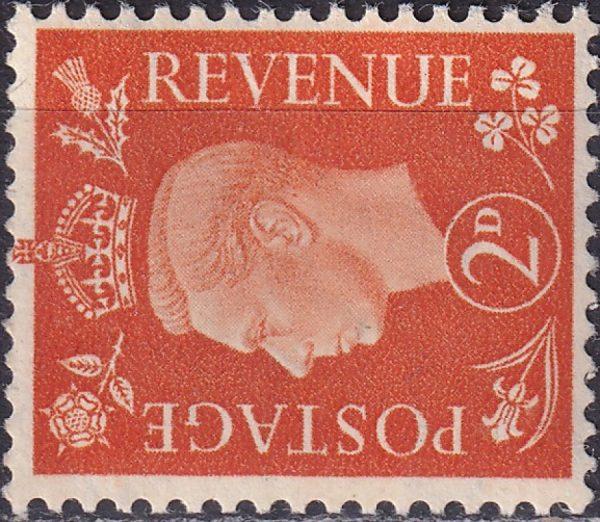 King George VI. Watermark Sideways