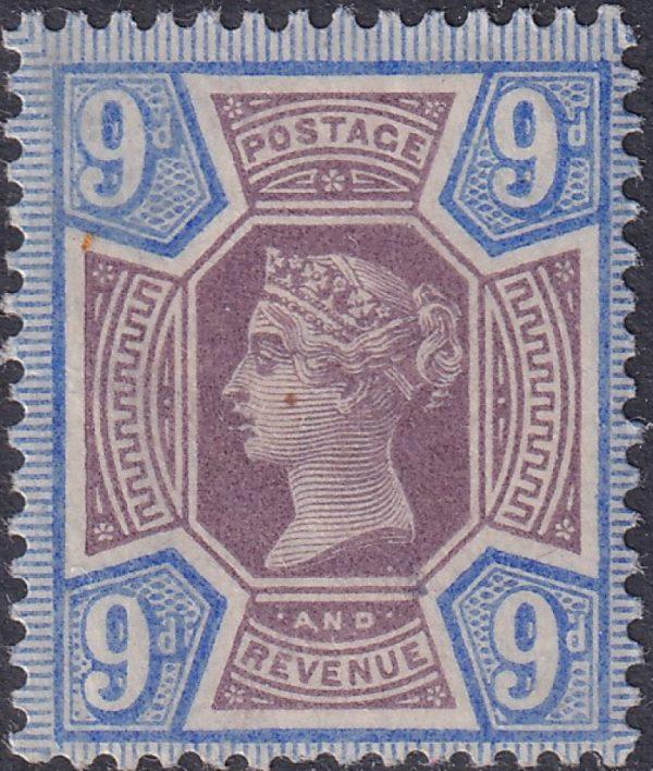 9d dull purple & blue Queen Victoria