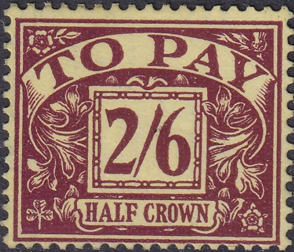 Postage Due. Watermark E2R & Tudor Crown